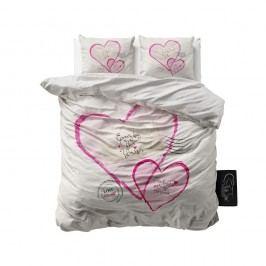 Obliečky z mikroperkálu Sleeptime Post Love, 200 x 220 cm