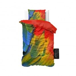 Obliečky z mikroperkálu Sleeptime Parrot, 140 x 220 cm
