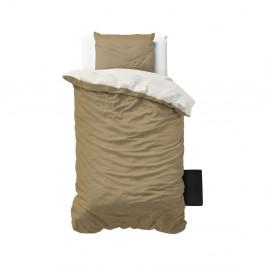 Krémové obliečky z mikroperkálu na jednolôžko Sleeptime Twin Face, 140×200cm