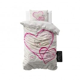 Obliečky z mikroperkálu Sleeptime Post Love, 140 x 220 cm