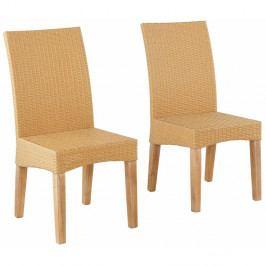 Sada 2 béžových jedálenských stoličiek Støraa Matrix