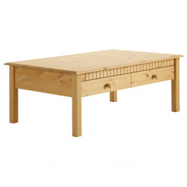 Konferenčný stolík z masívneho borovicového dreva s 2 zásuvkami Støraa Linda
