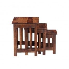 Sada 3 odkladacích stolíkov z palisandrového dreva Massive Home Irma