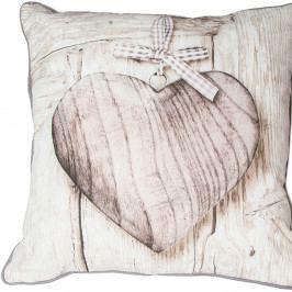 Vankúš Graham & Brown Wooden Heart,50×50cm