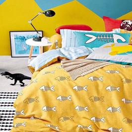 Obojstranné obliečky  DecoKing Diamond Fishy, 135 x 200 cm