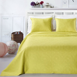 Žltá posteľná sada z mikrovlákna DecoKing Elodie, 240×260cm