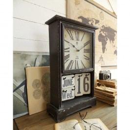 Kombinácia stolových hodín a kalendára Orchidea Milano Vintage Look, 33 x 52 cm
