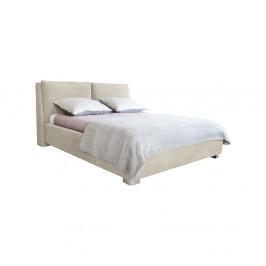 Béžová dvojlôžková posteľ Mazzini Beds Vicky, 160×200cm