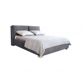 Sivá dvojlôžková posteľ Mazzini Beds Vicky, 180×200cm