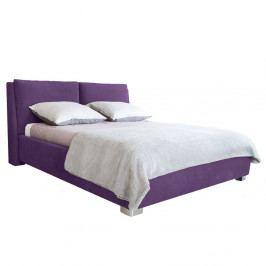 Fialová dvojlôžková posteľ Mazzini Beds Vicky, 180×200cm