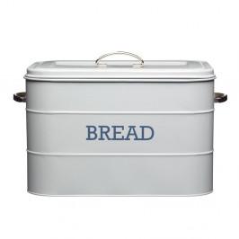 Sivá plechová dóza na chlieb Kitchen Craft Nostalgia