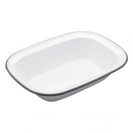 Smaltovaná hranatá forma na koláč Kitchen Craft Living Nostalgia, 26 cm
