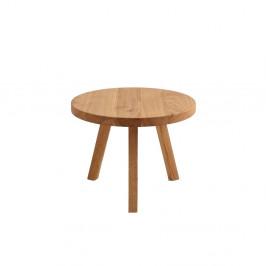 Odkladací stolík z dubového masívu Custom Form Treben, priemer 60 cm
