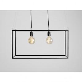 Čierne závesné svietidlo na 2 žiarovky Custom Form Metric