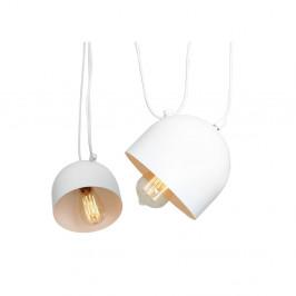 Biele závesné svietidlo na 2 žiarovky Custom Form Popo