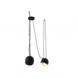 Čierne závesné svetlo pre 2 žiarovky Custom Form Popo