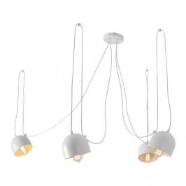 Biele závesné svetlo pre 4 žiarovky Custom Form Popo