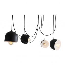 Čierne závesné svetlo pre 4 žiarovky Custom Form Popo