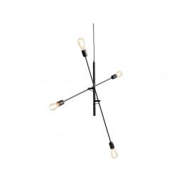 Čierne závesné svetlo pre 4 žiarovky Custom Form Twigo
