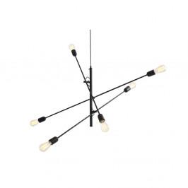 Čierne závesné svetlo pre 6 žiaroviek Custom Form Twigo