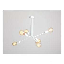 Biele závesné svietidlo na 6 žiaroviek Custom Form Vanwerk Duo