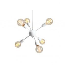 Biele závesné svietidlo na 6 žiaroviek Custom Form Vanwerk Ball