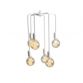 Biele závesné svietidlo na 6 žiaroviek Custom Form Vanwerk Tall