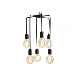 Čierne závesné svetlo pre 6 žiaroviek Custom Form Vanwerk Tall