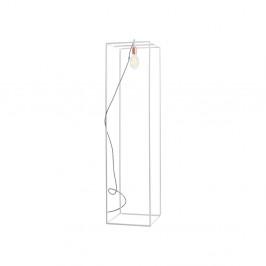 Biela stojacia lampa Custom Form Metric, šírka 35 cm