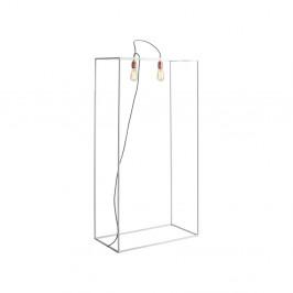 Biela stojacia lampa Custom Form Metric, šírka 70 cm