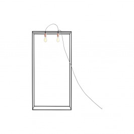 Čierna stojacia lampa Custom Form Metric, šírka 70 cm