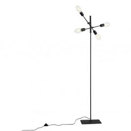 Čierna stojacia lampa pre 4 žiarovky Custom Form Twigo