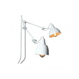 Biela nástenná lampa pre 2 žiarovky Custom Form Coben