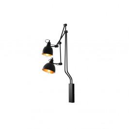 Čierna nástenná lampa pre 2 žiarovky Custom Form Coben