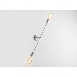 Biela nástenná lampa na 2 žiarovky Custom Form Twigo, šírka 60 cm