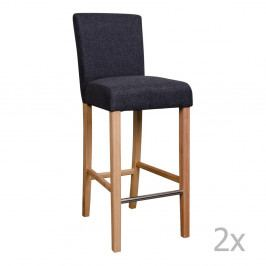 Sada 2 sivých barových stoličiek House Nordic Boden