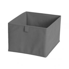 Sivý textilný úložný box JOCCA, 28x28cm
