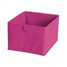 Ružový textilný úložný box JOCCA, 28x28cm