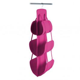 Ružový závesný úložný box na kabelky Jocca, 105x30cm