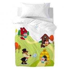 Detské bavlnené obliečky na paplón a vankúš Mr. Fox Little Pigs, 100×120cm