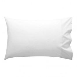 Biela bavlnená obliečka na vankúš , 50×30 cm
