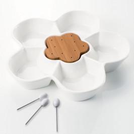 Servírovacia miska s 3 napichovadlami Brandani Margherita