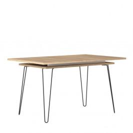 Svetlohnedý rozkladací jedálenský stôl Symbiosis Aero