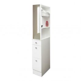 Biela kúpeľňová skrinka Symbiosis André, šírka 24,3cm