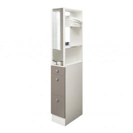 Sivohnedá kúpeľňová skrinka Symbiosis André, šírka 24,3cm