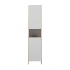 Biela kúpeľňová skrinka s hnedým korpusom Symbiosis Auben, šírka 38,2cm
