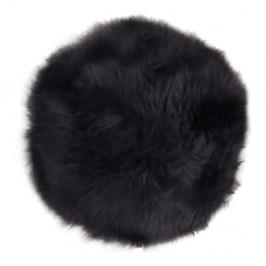 Čierna ovčia kožušina House Nordic Circle, 35 cm