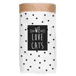 Úložné vrece z recyklovaného papiera Really Nice Things Love Cats