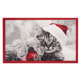 Rohožka Zala Living Christmas Cat, 45 × 75 cm