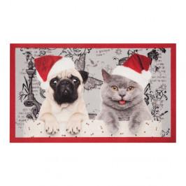 Rohožka Zala Living Christmas Cat and Dogs, 45×75cm